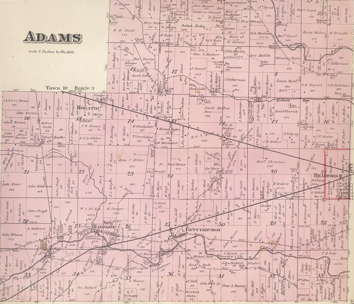Adams Township Darke County Ohio 1875