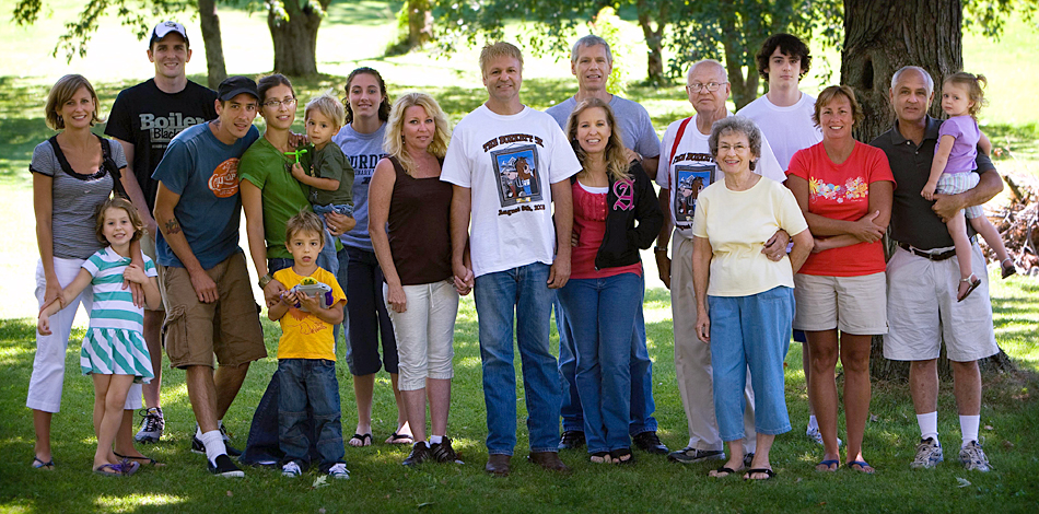 group portrait of the Paul Burkett Family - August 2008